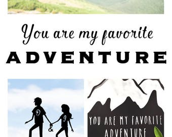 Personalized Gifts, Gifts For Couple, Travel Gifts, Travel Decor, Mountain Art, Gifts for Travelers, Art For Travelers, Travel Art, Art Gift