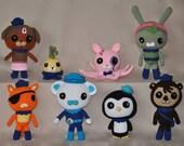 Crochet Octonaut Doll - Handmade Plushie - Tweak - Dashi - Tunip - Child's Crocheted Animal - Amigurumi Stuffed Doll - Gift for Children