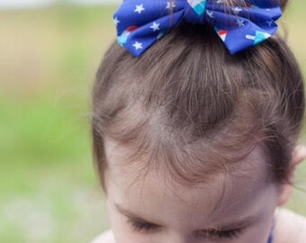 Patriotic bow, Popsicle bow, 4th of July bow, Independence day bow, Ice cream bow, Toddler headband, baby bow headband