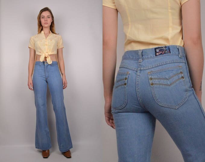 70's Denim Bell Bottoms