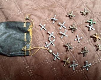 Vintage set of Jax w/ Original Leather Pouch