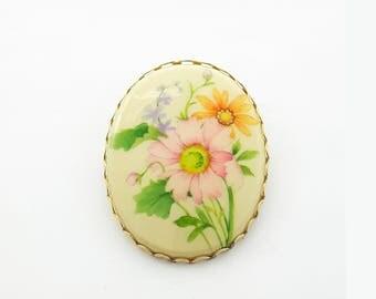 Vintage Mod 60s Floral Brooch - Hallmark Brooch