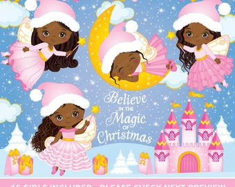 Christmas Fairy Clipart - Vector Fairy Clipart, Christmas Clipart, Fairy Clipart, Magic Clipart, Christmas Fairy Clipart, Fairy Clip Art
