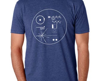 Outer Space Shirt, Voyager Golden Record Gift for Him, Voyager T-Shirt, Astronomy Shirt, Sci Fi Astronaut