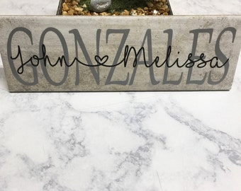 Decorative Wall Tile | Personalized Gift | Wedding Gift | Housewarming Gift | Anniversary Gift | Bridal Shower Gift | Ceramic Tiles | Name
