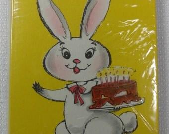 Vintage Birthday Party Invitations, Child Party Invitations, Bunny Cards Envelopes