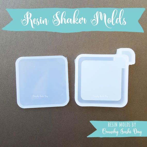 Square Resin Shaker Mold, Resin Shaker Mold, Silicone Mold, Epoxy, Shaker Mold, Charm Mold, Kawaii, Resin Mold, Hollow Mold, UV Resin Mold