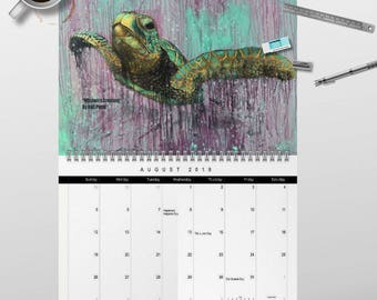2018 Marine Creatures Wall Art Calendar by artist Rafi Perez - Signed By The Artist