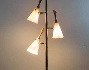 Vintage Mid Century Brass Floor Lamp
