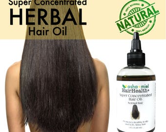 Super Concentrated Herbal Hair Oil, Hair Growth, Growth Serum, 26 Herbs & oils, Stinging Nettles, Burdock Root; castor oil