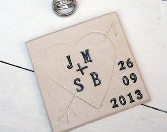 Love Heart Ceramic Coaster