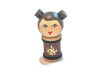 Doll: Vintage Wood Spool.