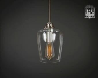 pendant light fixture edison bulb brushed nickel pendant kitchen light pendant