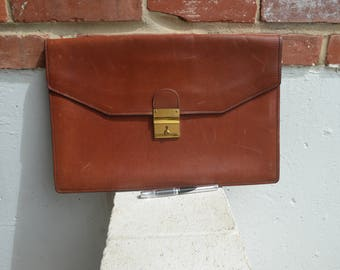 Schlesinger Brothers California Saddle Leather Portfolio Attache