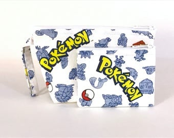 LIMITED EDITION - Pokemon Make Up Bag and Coin Purse Set - Accessory - Cosmetic Bag - Pouch - Gift