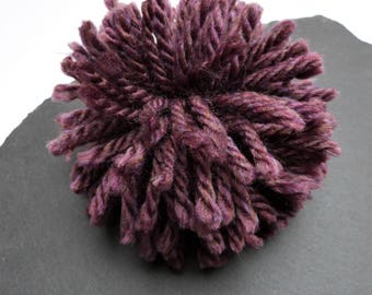 Giant Purple Pompom 120mm, 4.72 inches  Made From Chunky Acrylic Yarn