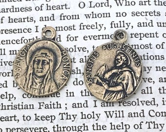 St. Monica Medal - St. Augustine Medal - Bronze - Patron of Mothers - Vintage Reproduction - Cast in the USA (CD-361)