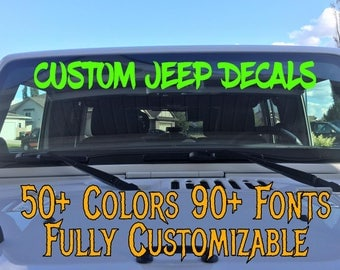 Custom Windshield Decals Word And Number Car Truck Window - Custom decal stickers for cars