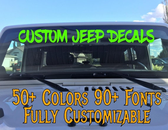Custom Jeep Wrangler Decals Body Decals Car Truck Window - Car windshield decals customcustom window decals