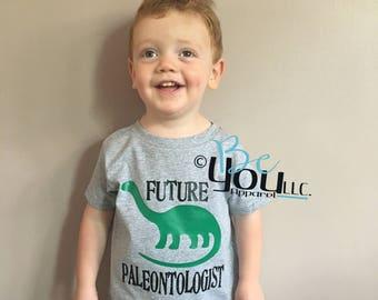 future paleontologist; dinosaur birthday shirt; dinosaur birthday; dinosaur shirt; dinosaur party; dino shirt; dino birthday shirt