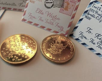 Set of 20 Letters with 1 Tooth Fairy Coin