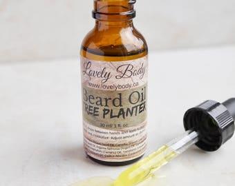 Tree Planter Beard Oil - All Natural Moisturizing, Beard Care, Beard Treatment with Essential Oils, Jojoba, Argan, Tamanu, Hemp Oils.