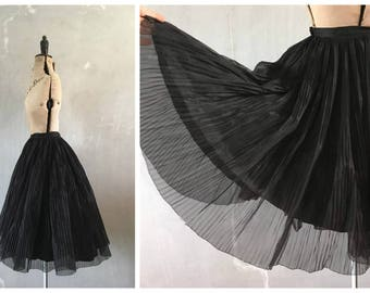 1950's Full Circle Skirt | Pleated Tulle Skirt | Petticoat