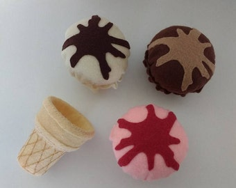 Felt Ice cream parlour set