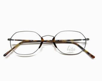 Vintage Lido eyeglass frame | NOS 80s fashion