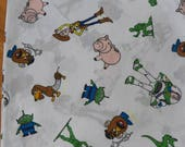 Vintage Disney TOY STORY Flat Double/Full Bed Sheet ~Fabric Bedroom Woody/Buzz
