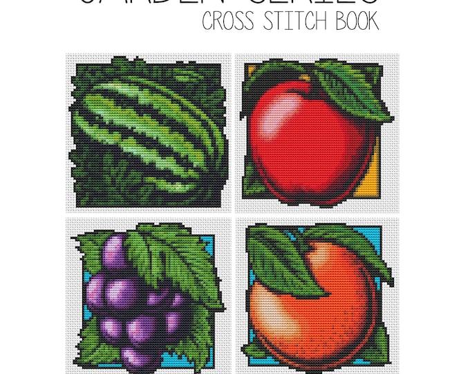 Cross Stitch Pattern PDF Set Garden Series, Fruit Cross Stitch, Art Cross Stitch (BOOK04)
