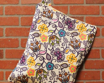 Cloth Diaper Wetbag, Flowers, Diaper Pail Liner, Diaper Bag, Day Care Size, Holds 12 Diapers, Size Large with Handle #L133