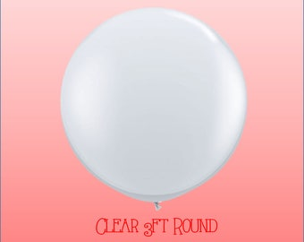 3 ft Clear Round Giant Round Balloon for Confetti balloons