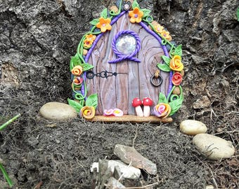 Hand crafted polymer clay fairy door