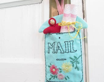 Vintage French Mailbox Door Hanger PDF Pattern