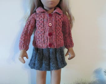 Hand Knitted Cabled Jacket for Sasha or Gregor Doll