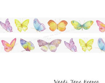NEW Pastel Butterflies Washi Tape - 30mm x 8m - Butterfly Planners Decoration Card-making Scrapbooking Collage Supply