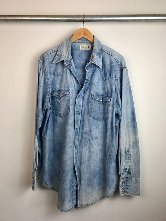 Vintage Men's Chambray Denim Shirt