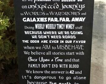 We do geek, Geek, In This House We Do Geek, geek wood sign, Star Wars, Star Trek, Harry Potter, Cosplay