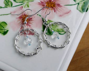 lovely wrapped wedding hoop earrings