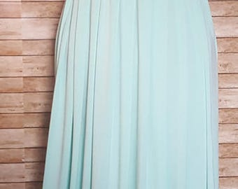 Bridesmaid Dress Infinity Convertible long, Attached Bandeau, Bridesmaids Dresses Short, Infinity Dress, Evening Dress, Mint Color Shown