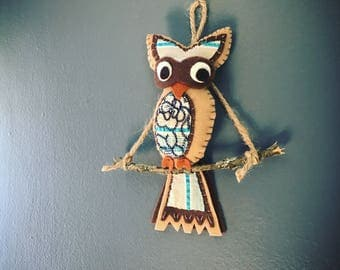 Hand Sewn Felt Owl Ornaments