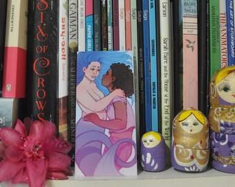 Mermaid and girl bookmark