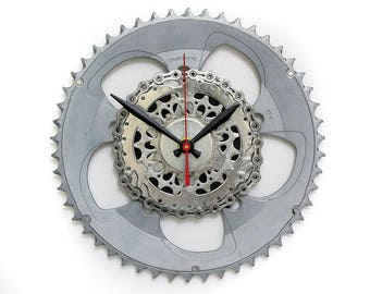 Steampunk Wall Clock - Cyclist Clock Bike Gear Wall Clock Steampunk Wall Clock Unique Wall Clock Cycling Gear Clock