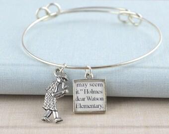 Sherlock Holmes Charm Bracelet / Sherlock Bracelet / Sherlock Jewelry /  Sherlock Gifts / Book Geek Gifts / Gifts for Book Lovers