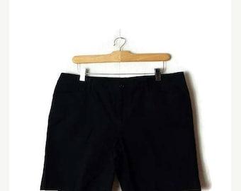 ON SALE Ralph Lauren Black Cotton Shorts from 90's/W34*