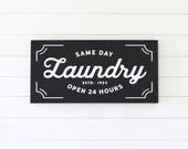 VINTAGE LAUNDRY Painted wood sign (Painted Frame) - S,M,L Sizes available  | Wall decor (Rustic Chic, Modern Farmhouse, Fixer Upper)