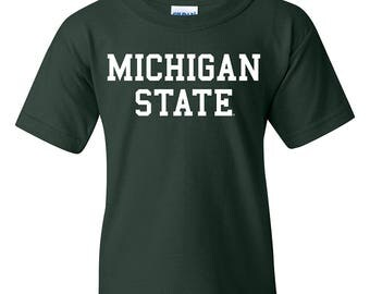 Michigan State Spartans Basic Block YOUTH T-Shirt