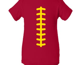 Football Team Colors Creeper - Red/Yellow