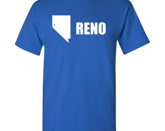 Reno City Flag T Shirt - Royal